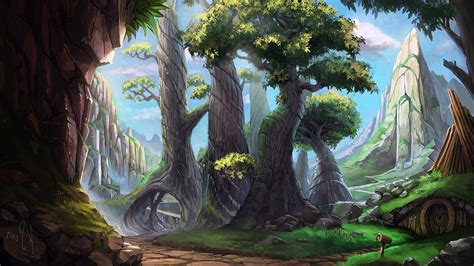 painting drawing digital drawing painting landscape nature forest