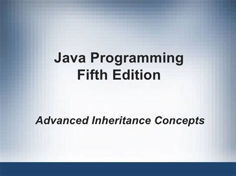 advanced java swing 11 advance inheritance concepts