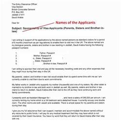 invitation letter sle for uk family visitor visa sle invitation letter to apply for the uk visa from