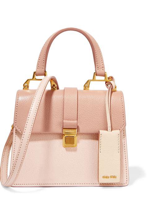 Miu Miu Plisse Crescent Purse by Miu Miu Madras Mini Textured Leather Shoulder Bag In Pink
