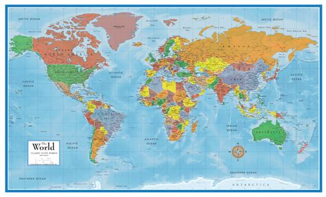 world map classic premier 3d world wall map poster mural swiftmaps