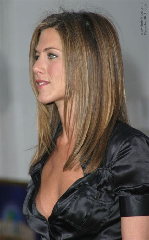 how to cut sides of hair to angles jennifer aniston s hair cut in long layers with angles
