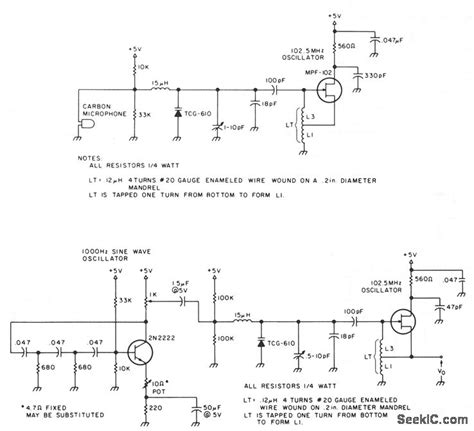 single transistor fm transmitter circuit diagram a one transistor fm transmitter communication circuit circuit diagram seekic
