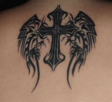 tribal cross tattoos with wings 17 best images about tat on