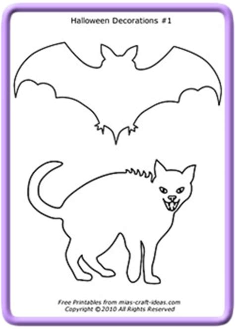 free printable halloween decorations templates printable halloween decorations