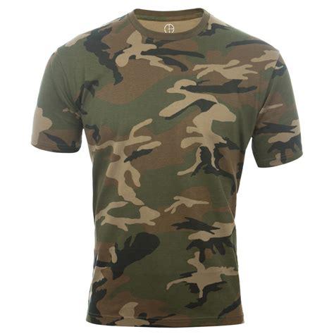 Camo Shirts Camouflage Army T Shirt Woodland Camo