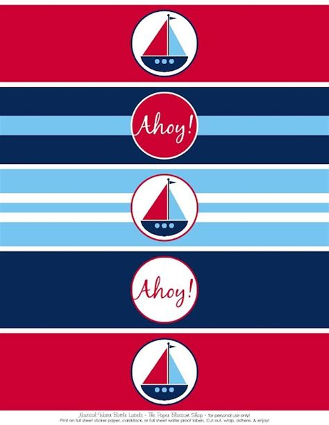 printable nautical stickers free printables nautical party printables baby ideas