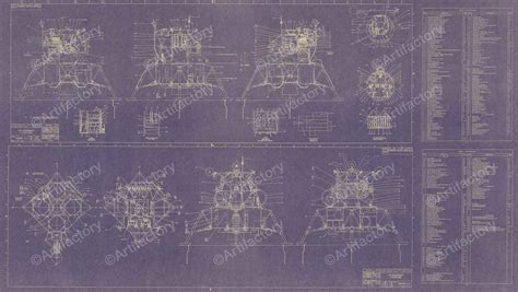 apollo lunar excursion module lem blueprint poster scientificsonlinecom