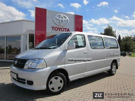 toyota hi ace d 4d 8 seater 2008 estate minibus up to 9