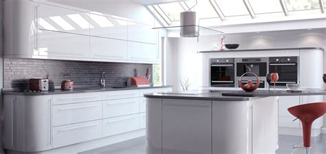White Gloss Kitchen Ideas Custom Built Made To Measure Kitchens Any Shape Any