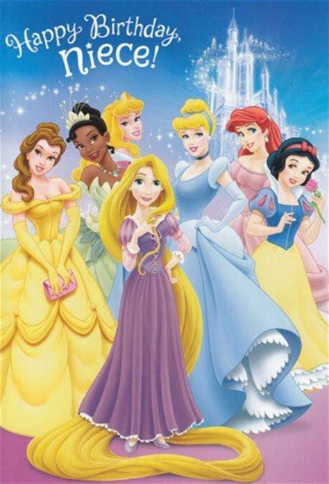 greeting card birthday disney princess happy birthday niece  puzzle sticker