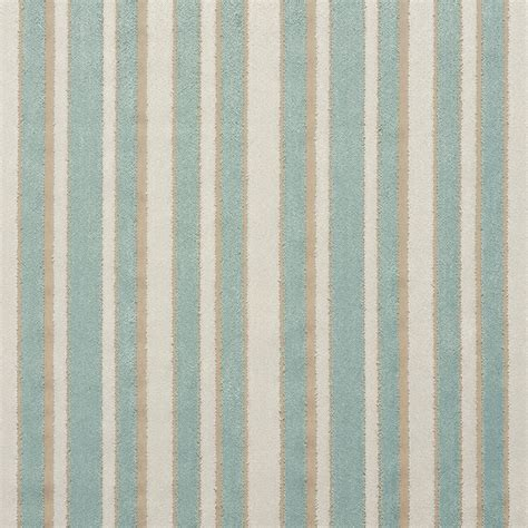 white upholstery fabric b0760b aqua blue and off white striped cut velvet