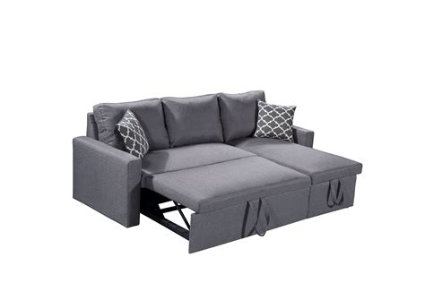 Zara Sofa Bed Zara Reversible Sectional Sofa 3 In 1 Sofa Bed Storage Grey Husky 174 Furniture And