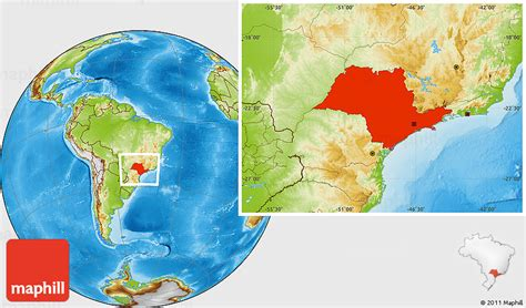 sao paulo on world map physical location map of sao paulo
