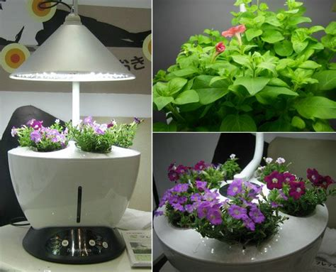 Indoor Garden Planter by Automatic Mi Garden Grows Plants Indoors At The Push Of A