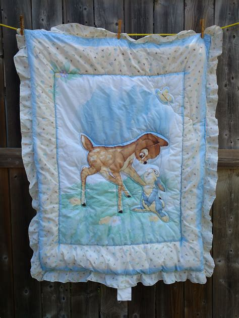 bambi crib bedding disney bambi thumper bed sheet comforter quilted crib baby