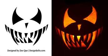20 free scary pumpkin carving stencils faces