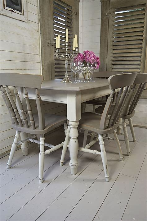 painted table and chairs dine in style with our stunning grey and white split