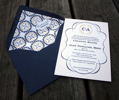 wedding invitations nautical monogram wedding invitations nautical wedding invitations