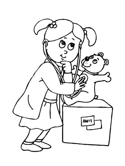 coloring page of a doctor free coloring pages of doctor nurse pinterest