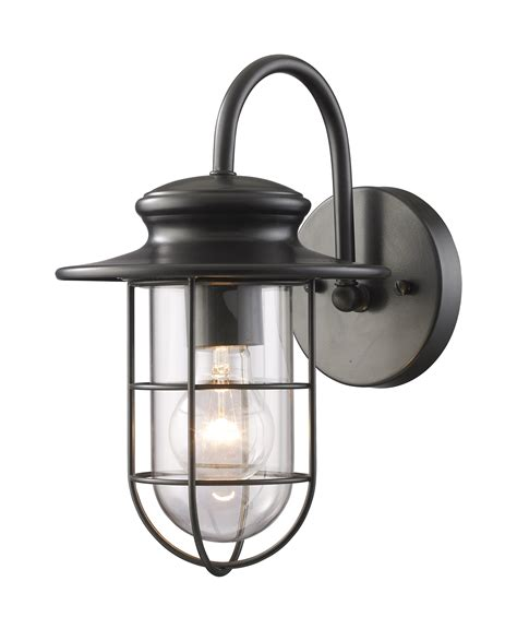 Patio Lighting Fixtures Elk Lighting 42284 1 Portside Outdoor Wall Mount Lantern