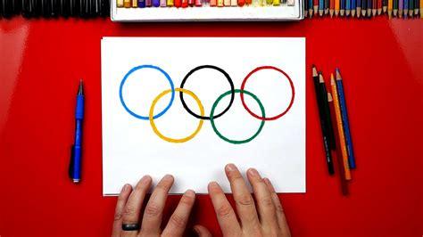 draw  olympic rings art  kids hub