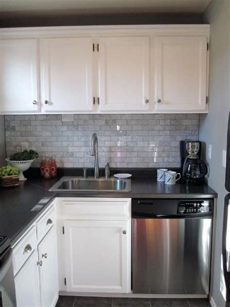 beautiful cabinets and carrara marble on pinterest what backsplash looks best with white cabinets and dark