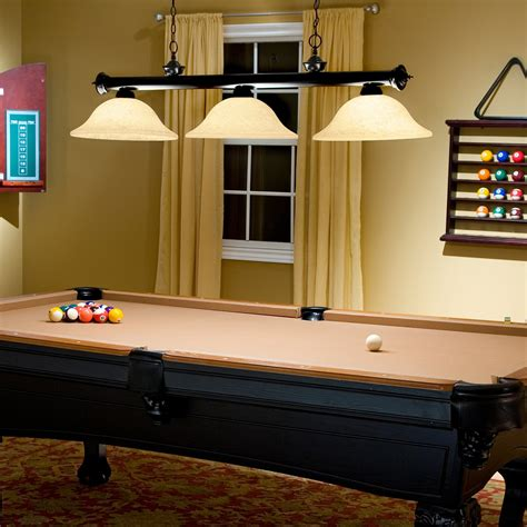Pool Table Lighting by Jarvis Pool Table Island Light Bronze At Hayneedle