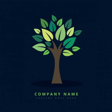 Creative Eco Green Tree Logo Vector Free Download Logo With Abstract Tree Vector Free