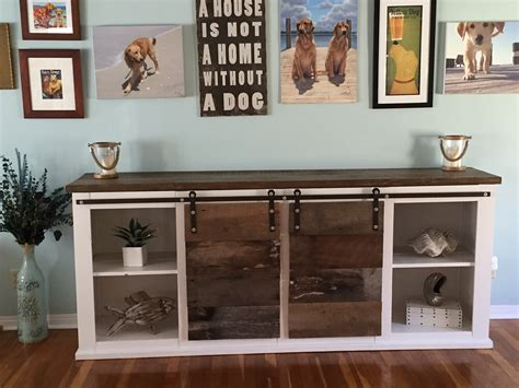 sliding door console table white grandy sliding door console diy projects