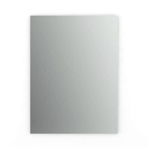 24 X 42 Frameless Mirror by Glacier Bay 42 In L X 36 In W Polished Edge Mirror