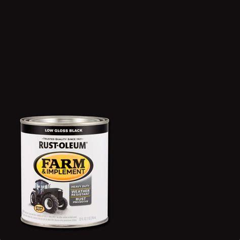 rust oleum stops rust 1 qt black door paint 2 pack 238310 the home depot