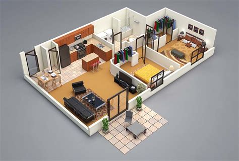 3 d floor plans 3 bedroom house floor plan 3d amazing architecture magazine