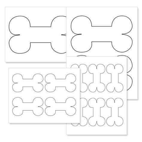 printable bone shapes free coloring pages of bone shapes