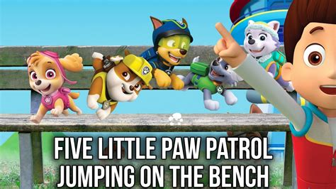 five little monkeys jumping on the bed youtube five little paw patrol jumping on the bed bench five