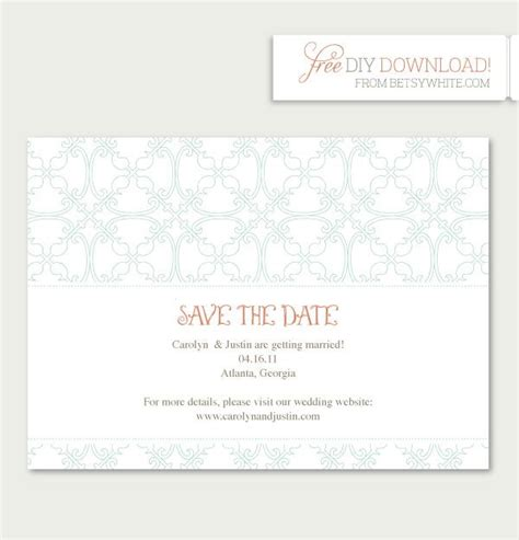 do it yourself save the date cards templates 17 best images about free printables on free