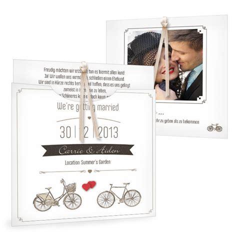Hochzeitseinladung Fahrrad by Vintage Hochzeitseinladung Mit Fahrrad Carinokarten De