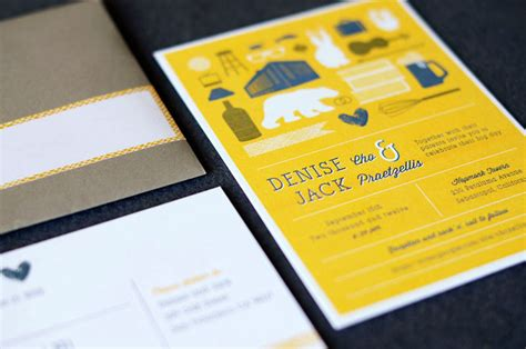 Wedding Invitations Yellow Paper by S Modern Yellow Wedding Invitations
