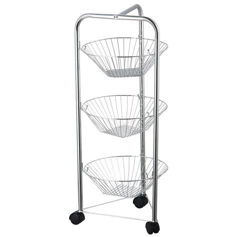 3 4 tier fruit basket kitchen trolley vegetable storage