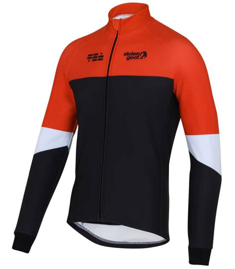 orange cycling jacket buy stolen goat climb conquer winter cycling jacket