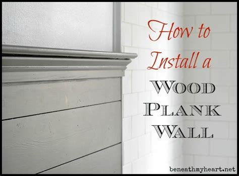 Wood Planks On Top Of Wall