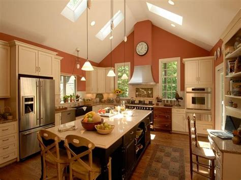Cathedral Ceiling Kitchen Lighting Ideas by Kitchens With Vaulted Ceilings Charming Vaulted Ceiling