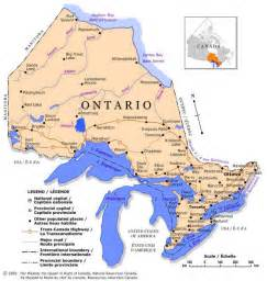 canada map ontario cities ils 1993 онтарио ontario