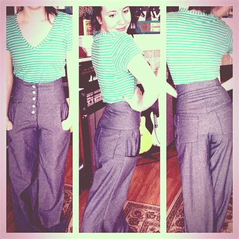 pattern high waisted jeans wide leg high waisted pants sewing projects burdastyle com
