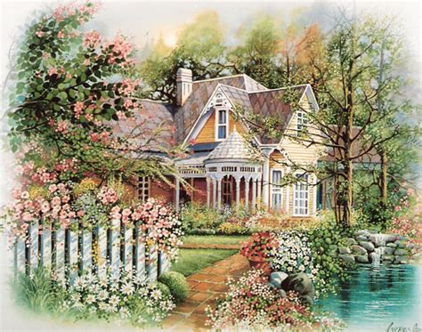 Country Cottage Cross Stitch cypress fine art licensing