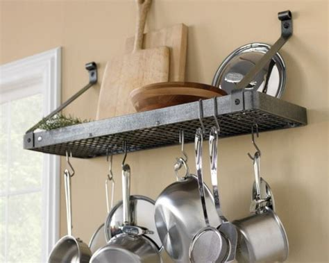 Pot And Pans Rack enclume shelf pot rack