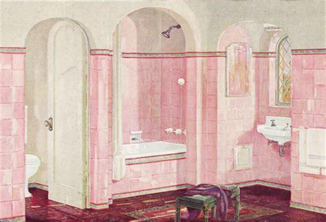 pink and white bathroom 1926 crane plumbing fixtures romance style bathroom