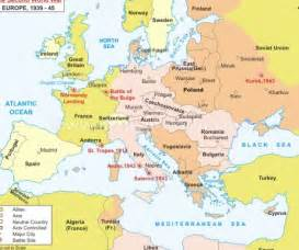 Wwii Europe Map by Wwii Map Of Europe And