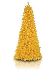 yellow orange and brown artificial christmas trees