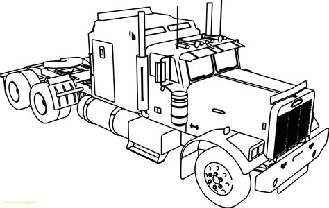 semi truck coloring pages peterbilt semi truck coloring pages gallery coloring for